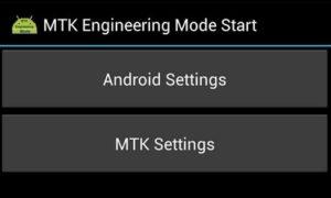 MTK Engineering Mode APK